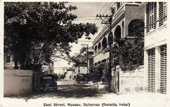 Streetscape of East Street featuring the Rozelda Hotel