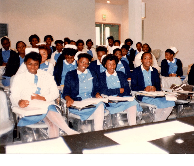 Students at the new Bahamas School of Nursing