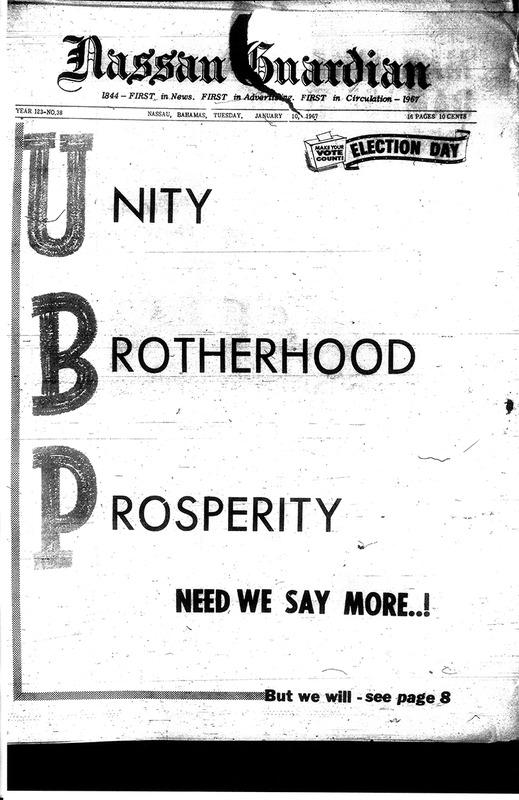 Unity Brotherhood Prosperity.  Need We Say More...!