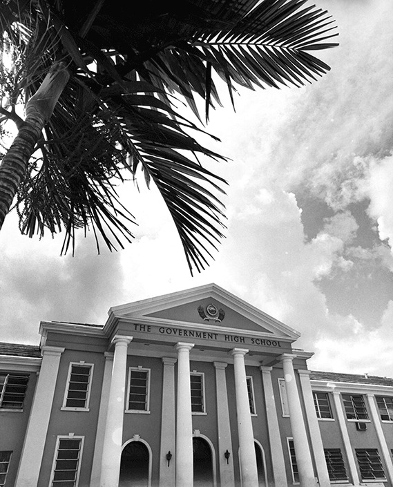 The Government High School at what is now the University of The Bahamas