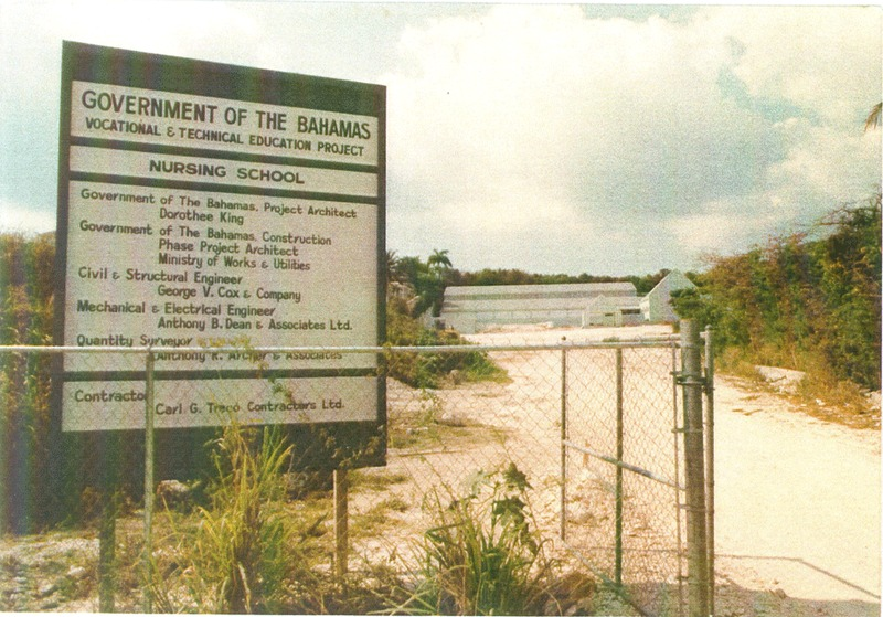 The Vocational & Technical Education Project: Nursing School by the Government of The Bahamas which would come to be known as the Grosvenor Close Campus