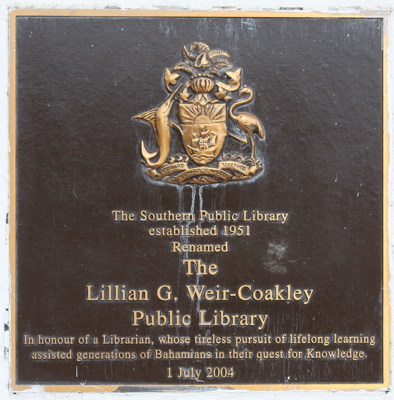 Plaque at The Lillian G. Weir-Coakley Public Library