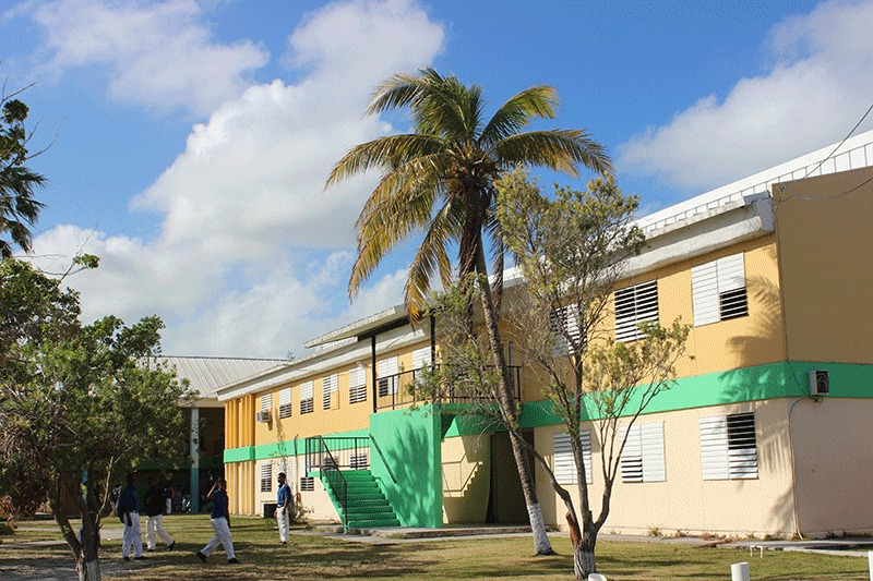 The current Government High School  at Yellow Elder Gardens