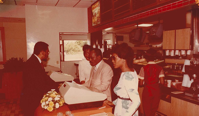 The opening of Kentucky Fried Chicken