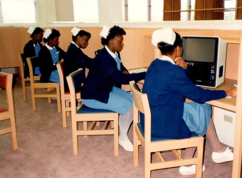 Students at the Bahamas School of Nursing