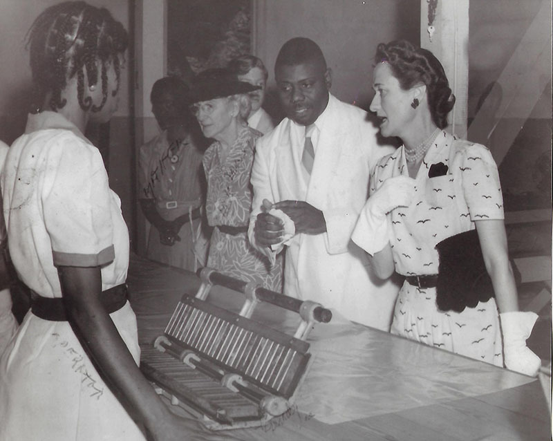 Mr. Ulric Mortimer, Duchess of Windsor, and an employee  at Mortimer Candies