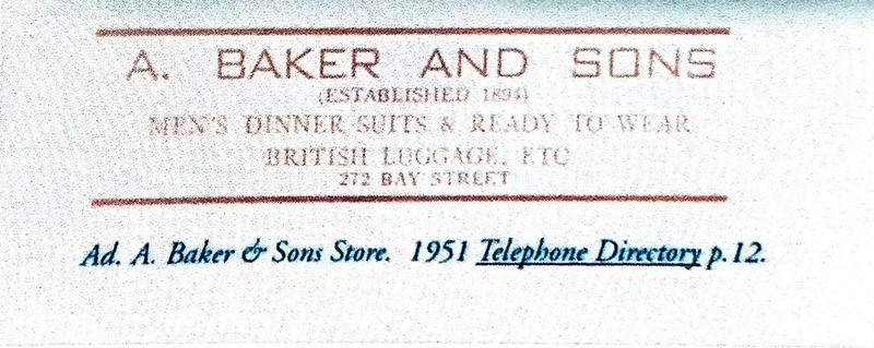 A. Baker & Sons Business Card