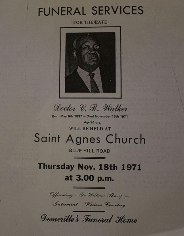 Funeral program for Dr. C.R. Walker